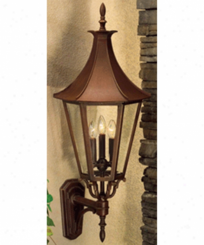 Hanover Lantern B19610absjc4 Westminster Le Large 4 Light Outdoor Wall Light In Antique Brass With Clear Beveled Glass