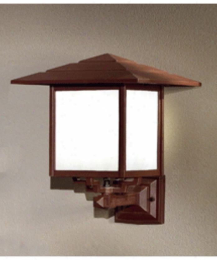Hanover Lantern B28510acphd Indian Wells Large 1 Light Outdoor Wall Light In Antique Copper With Iridescent Honey Glass