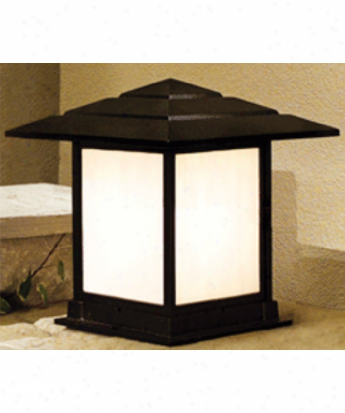 Hanover Lantern B28561lbr Indian Wells Large 1 Light Outdoor Puer Lamp In Landscape Brown Wigh Opalescent Honey Glass Glass