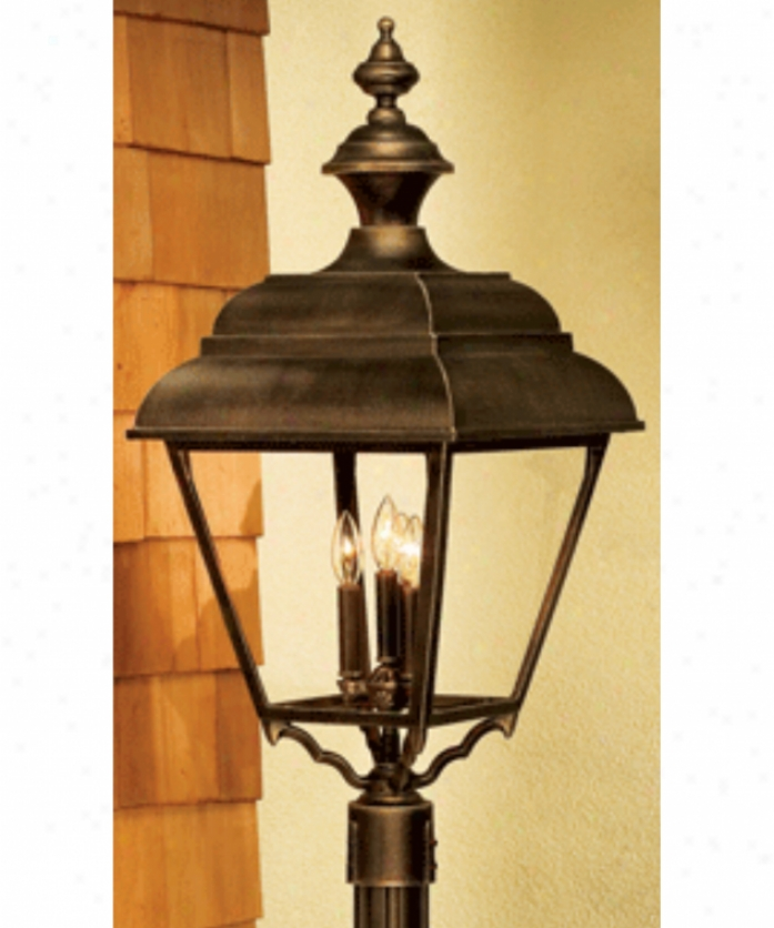 Hanovver Lantern B31830dbz Plymouth X-large 4 Light Outdoor Placard Lamp In Darkness Bronze With Clear Acrylic Panels Glass