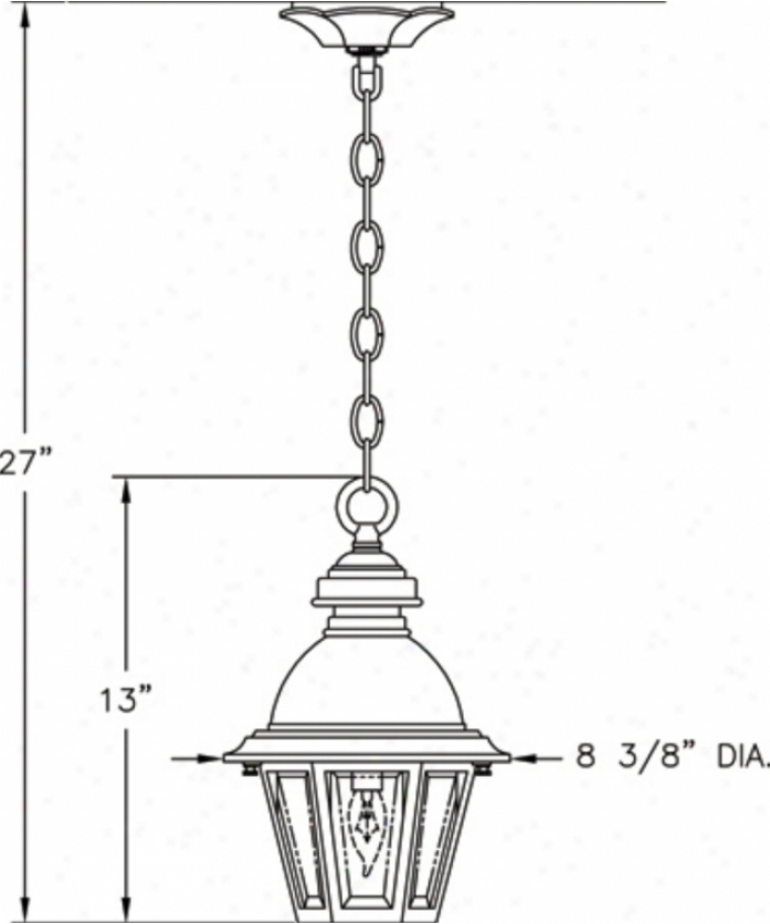 Hanover Lantern B51220aalm South Bend Small 1 Light Outdoor Hanging Lantern In Almond With Clear Bent Beveled Glass Glass