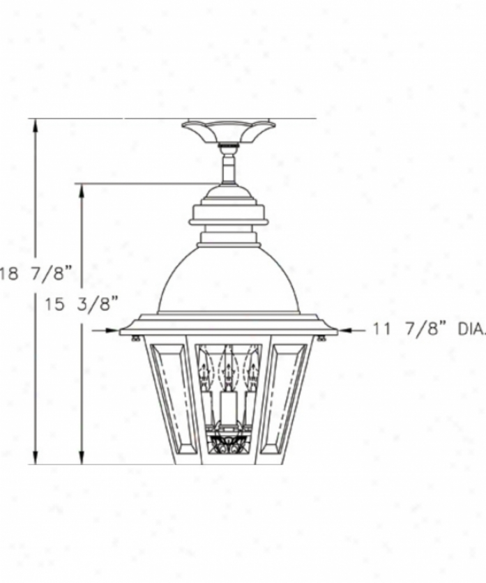 Hanover Lantern B51421adbz South Bend Mrdium 3 Light Outdoor Flush Mount In Dark Bronze With Clear Beveled Glass Glass