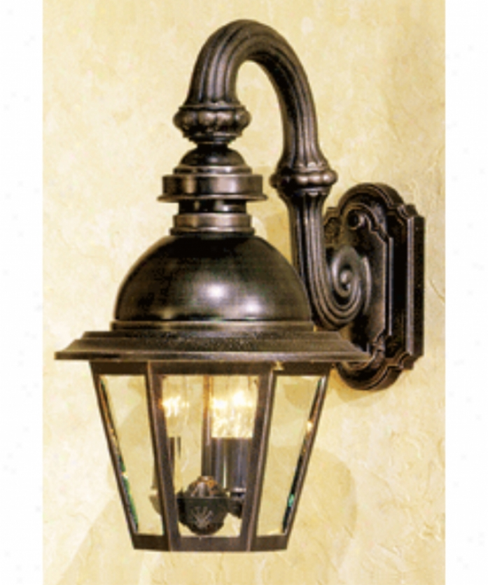 Hanover Lantern B514frmaabsjc3 Soith Bend Medium 3 Easy  Outtdoor Wall Light In Antique Brass With Clear Beveled Glass