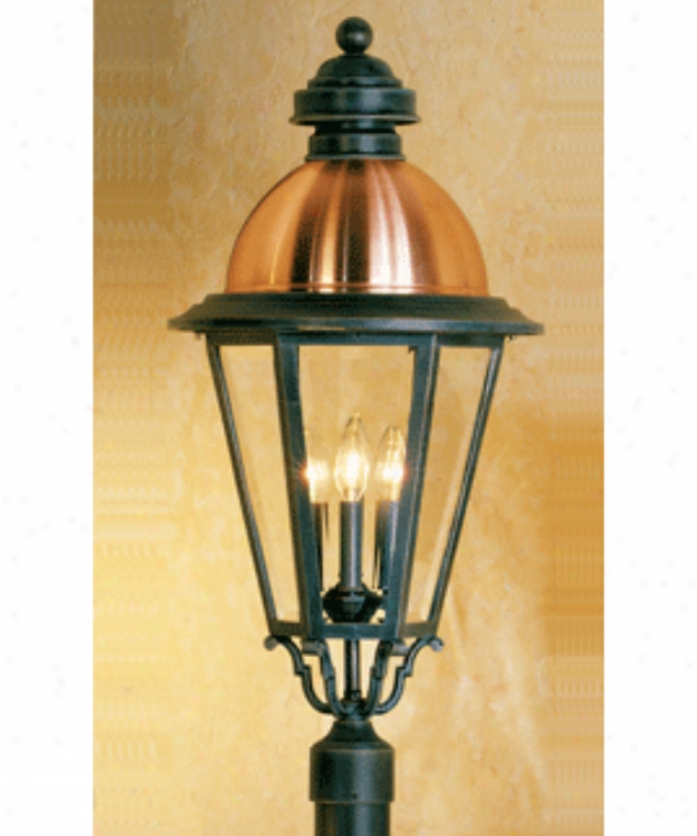 Hanover Lantern B51630cbcy South Bend Large 4 Light Outdoor Post Lamp In Black Cherry With Clear Beveled Glass Glass