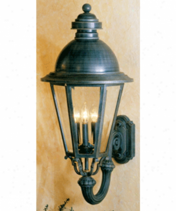 Hanover Lantern B516fsmaasijc4 South Bend Large 4 Light Outdoor Wall Light In Antique Silver With Clear Beveled Glass