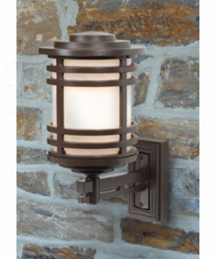 Hanover Lantern B55410lbr Aerial Large 1 Light Outdoor Wall Light In Landscape Brown With Opal Acrylic Glass