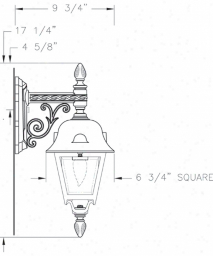 Hanover Lantern B5672acpjd J3fferson Small 1 Gay Otudoor Wall Light In Antique Copper With Clear Beveled Glass