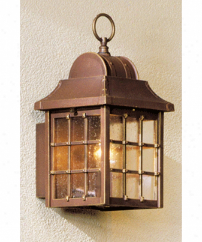 Hanover Lantern B8201alm Revere Small 1 Light Outdoor Wzll Light In Almond With Clear Seeded Beveled Acrylic Panels Glass