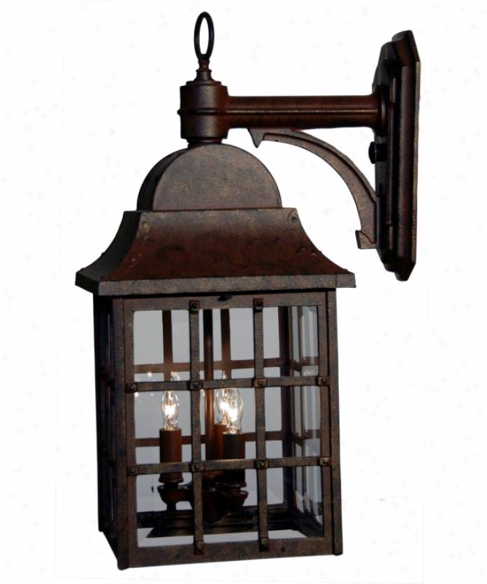 Hanover Lantern B8312rmarb Venerate Large 3 Light Outdopr Wall Light In Achitectural Bronze Through  Clear Beveled Glass Glass