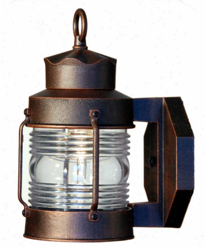 Hanover Lantern B8609arb Avalon Small 1 Light Outdoor Wall Light In Achitectural Bronze With Clear Polycarbonated Fresnel Lens Glass