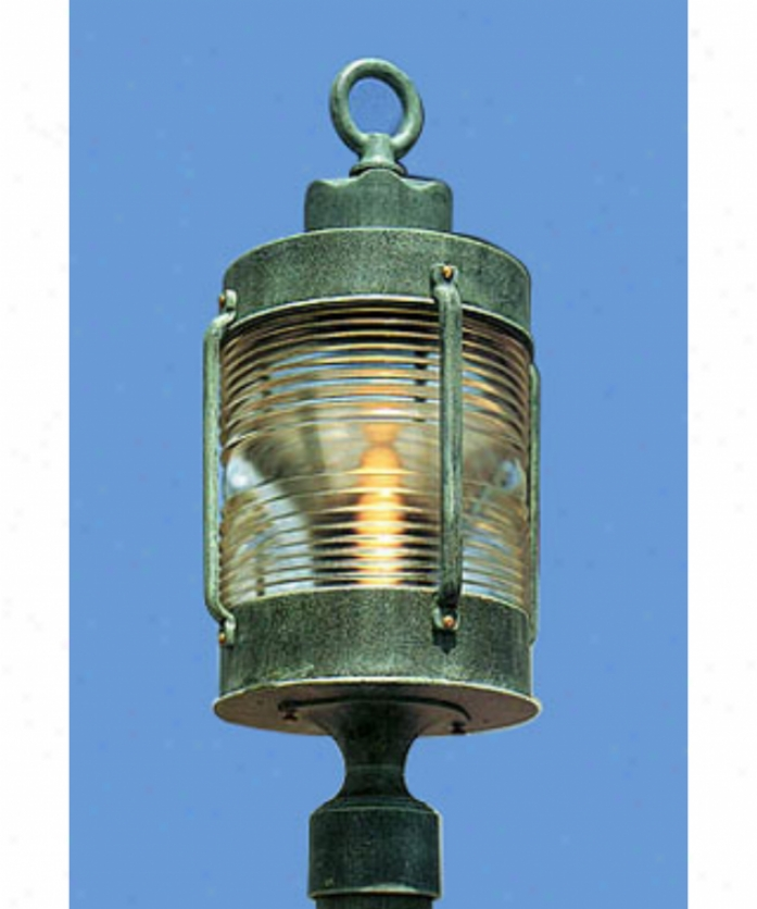 Hanover Lantern B9030lbr Avalon Large 1 Light Outdoor Post Lamp In Landscape Brown With Clear Glass Fresneel Lens Glass
