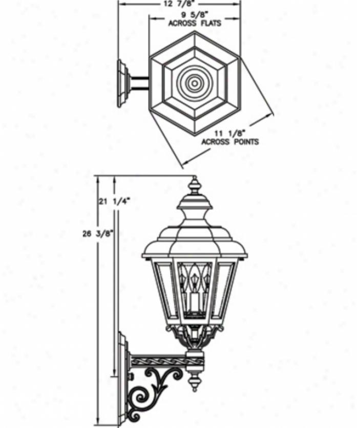 Hanover Lantern B9370absjc3 Jamestown Medium 3 Light Outdoor Wall Light In Antique Brass With Clear Beveled Glass