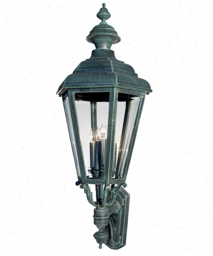 Hanover Lantern B9410alm Jamestown Large 4 Light Outdoor Wall Light In Almond With Clear Beveled Glass Glass