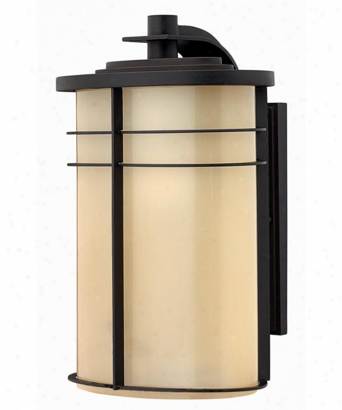 Hinkley Lighting 1125mr-esds Ledgewood Energy Smart Dark Sky 1 Light Outdoor Wall Light In Muaeum Bronze Witj Champagne Inside-etchef Glass