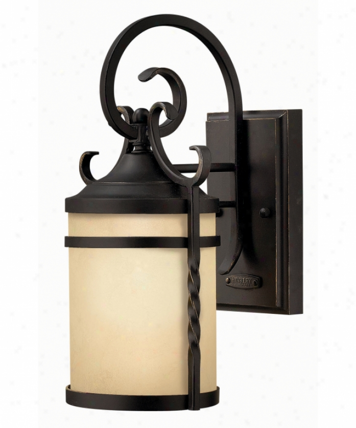 Hinkley Lighting 1144ol-ds Casa Exterior Dark Sky 1 Light Outdoor Wall Light In Olde Black In the opinion of Light Amber Etched Glass