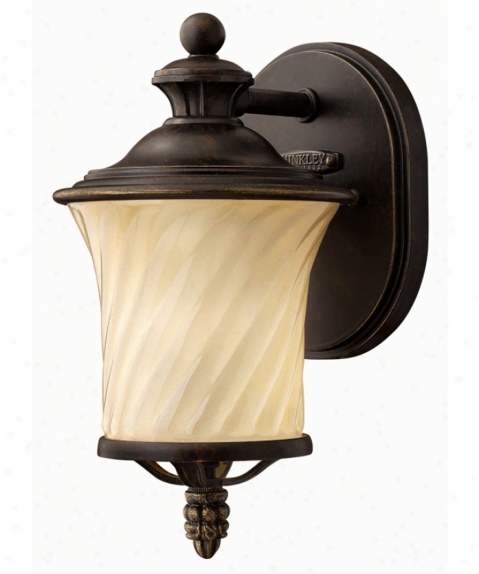 Hinkley Lighting 1256rb San Mateo 1 Ligh tOutdoor Wall Light In Regency Bronze With Fluted Champagne Glass