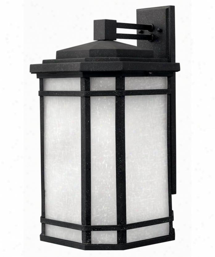 Hinkley Lighting 1275vk Cherry Creek 1 Easy  Outdoor Wall Light In Vintage Black With White Linen Glass