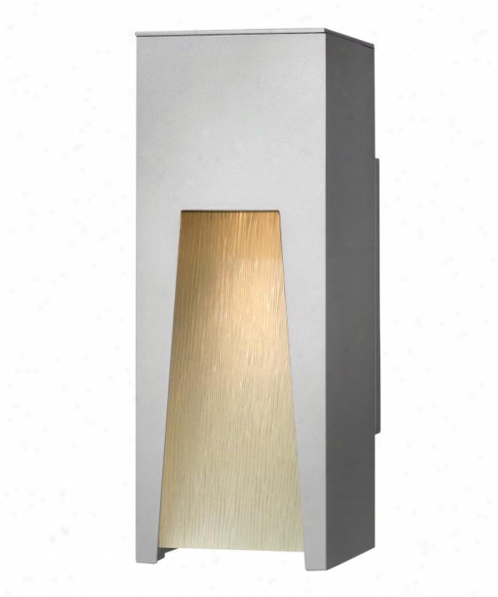 Hinkley Lighting 1760tt Kube Dark Sky 1 Light Outdoor Wall Light In Titanium With Clear Etched Organic Rain Glass