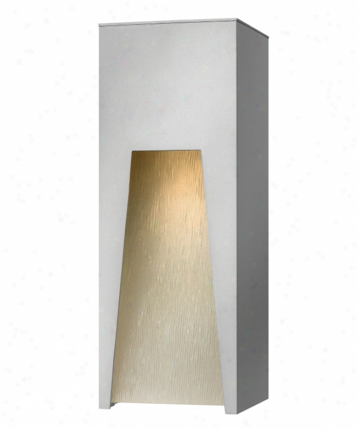 Hinkley Lighting 1764tt Kube Dark Sky 1 Light Outdoor Wall Light In Titanium With Clear Etched Organic Raih Glass