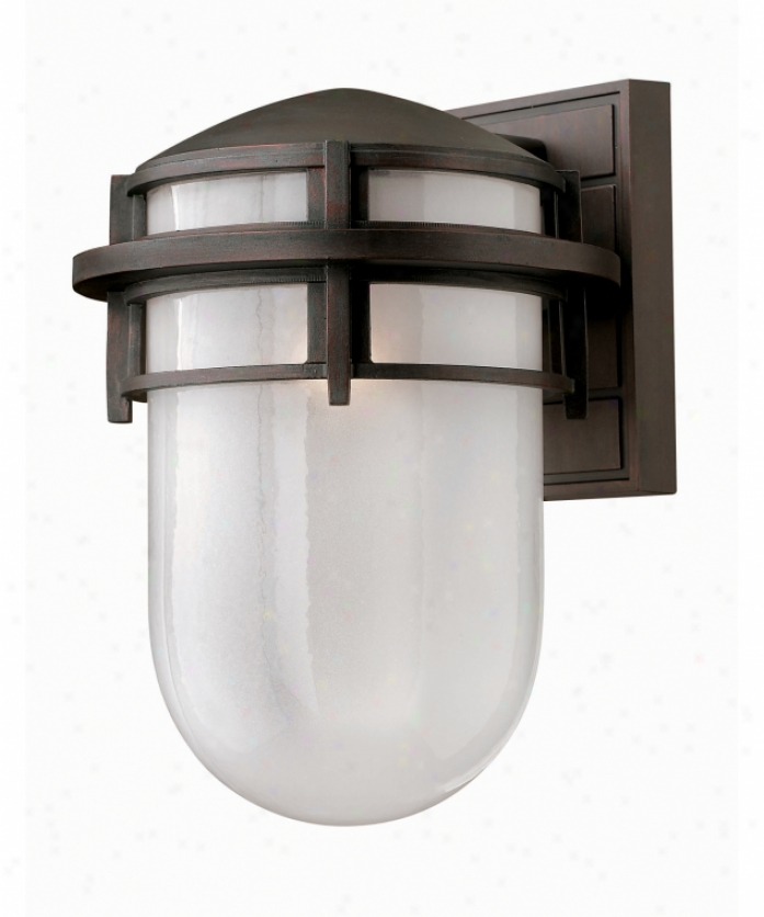 Hinkley Lighting 1954vz-es Reef Energy Smart 1 Aspect Outdoor Wall Light In Victorian Brown With Clear Sandblasted Glass