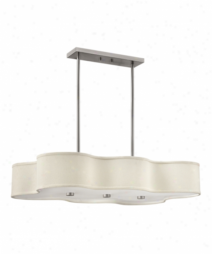 Hinkley Lighting 3802bn Cirrus 6 S~ Single Tier Chandelier In Brushed Nickel With High Impact White Acrylic Lense Glass