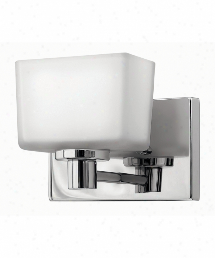 Hinkley Lighting 5020cm Taylor 1 Light Wall Sconce In Chrome With Inside Painted White-outside Etched lGass