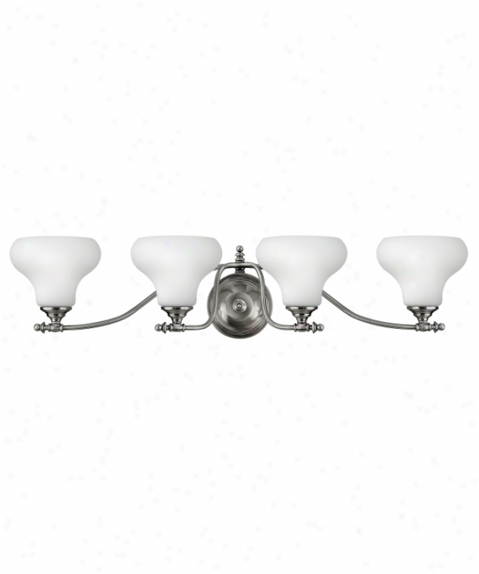 Hinkley Lighting 5864pl Addison 4 Light Bath Vanity In Polished Antique Nickel With Etched Opal