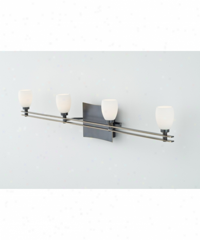 Thomas Lighting M1644 96 Ditto 4 Light Bath Vanity Light In Gunmetal With Mou