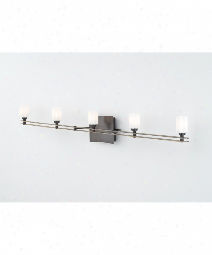 Holtkotter 5585HBOBG5014 Ludwig Series 5 Light Bath Vanity Light In Hand Brus