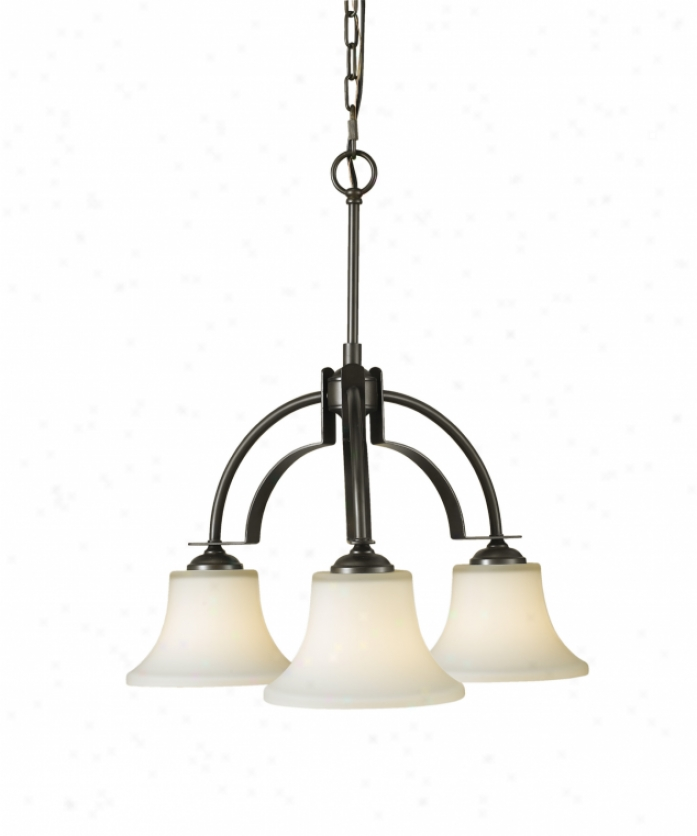 Home Solutiona F2250-3orb Barrington 3 Unencumbered Single Tier Chandelier In Oil Rubbed Bronze With Opal Etched Glass Glass