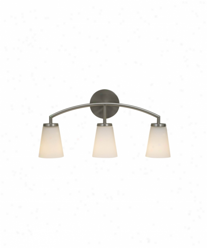 Home Solutions Vs15803bs Tribeca 3 Light Bath Vanity Light In Brushed Steel With White Opal Etched Glass
