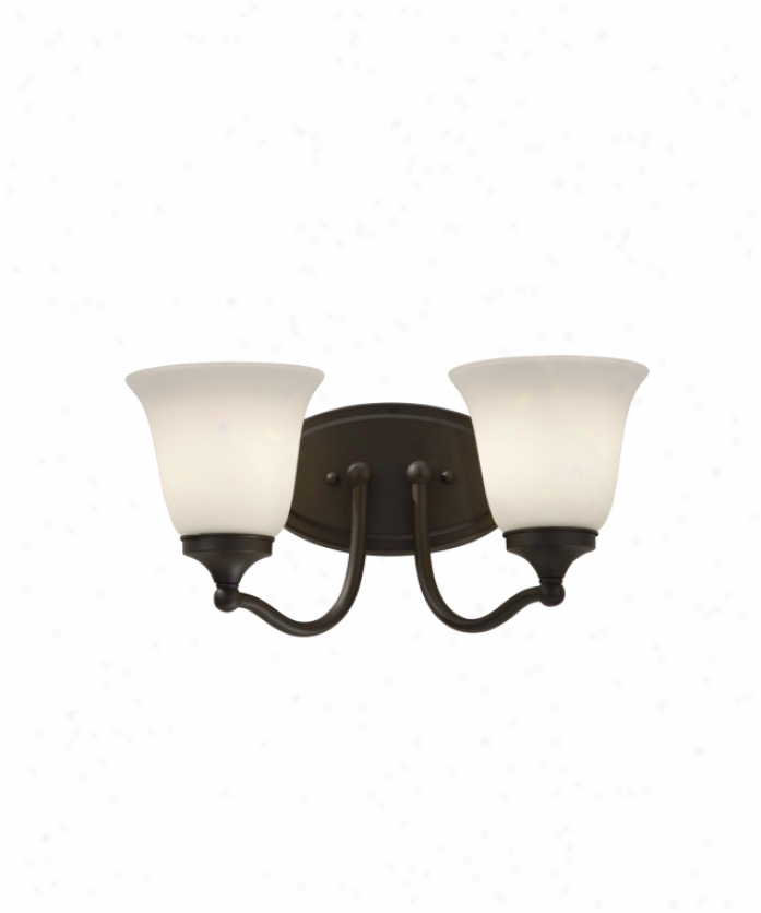 Home Solutions Vs18502orb Beckett 2 Light Bath Vanity Light Ib Oil Rubbed Bronze With White Opal Etched Glass