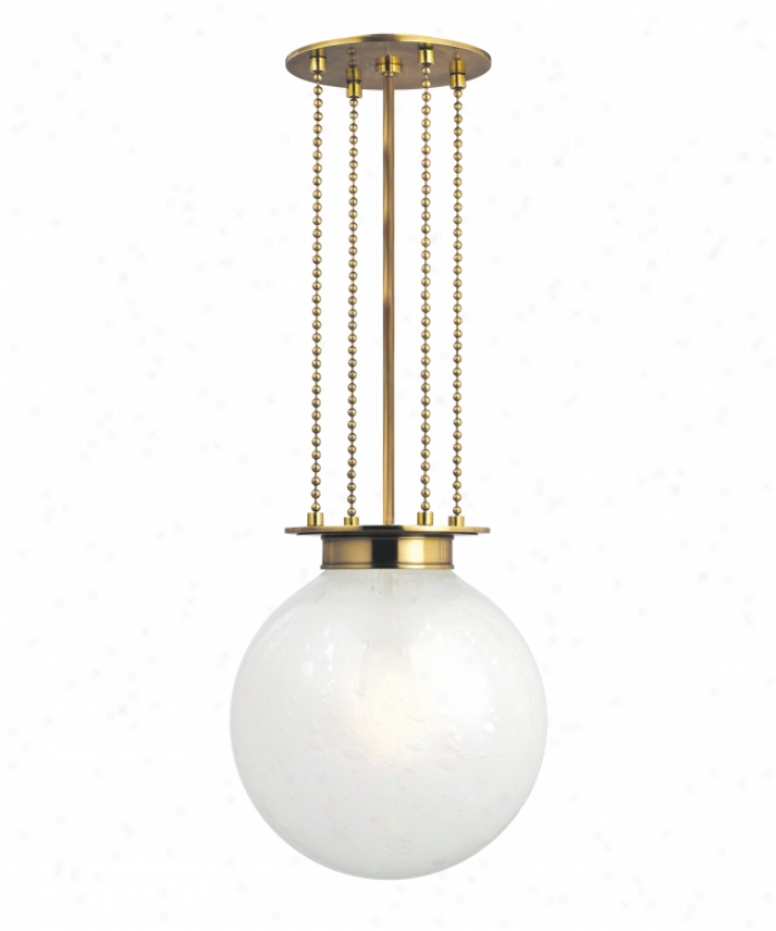 Hudson Valley 4217-agb-fb Blaine 1 Light Ceiling Pendant In Aged Brass With Clear Bubble Outer With Frosted Inside Glass