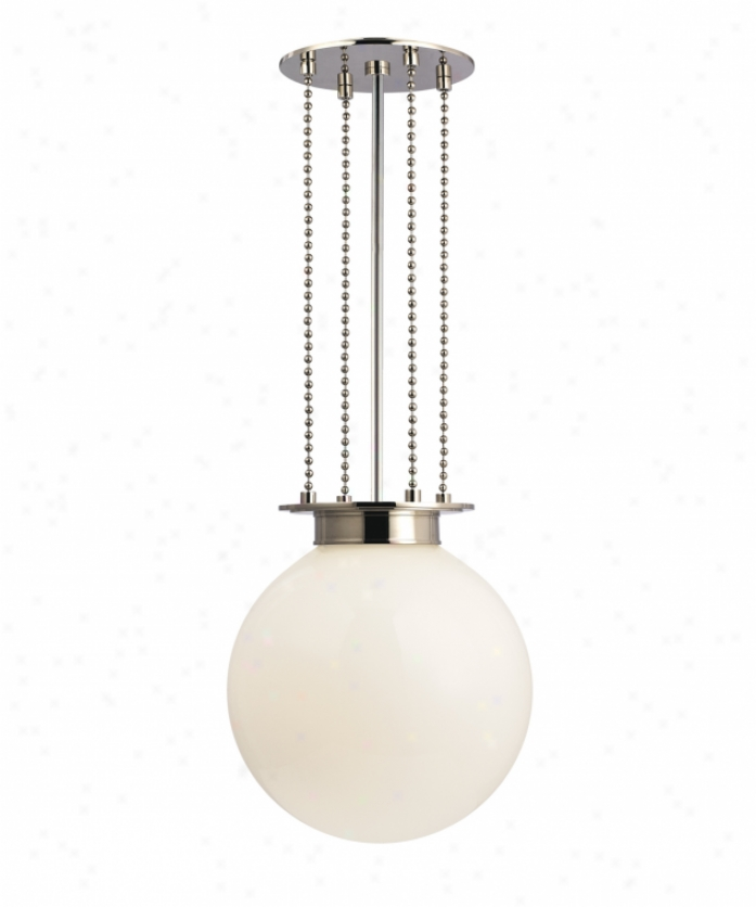 Hudson Valley 4217-pn-fb Blaine 1 Light Ceiling Pendant In Polished Nickel With Clear Bubble Outer With Frosted Inside Glass