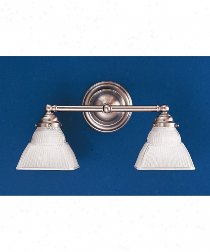 Hudson Valley 4512-sn Majestic Square 2 Ligh5 Bath Vanity Light In Satin Nickel With Clear Glass Glass