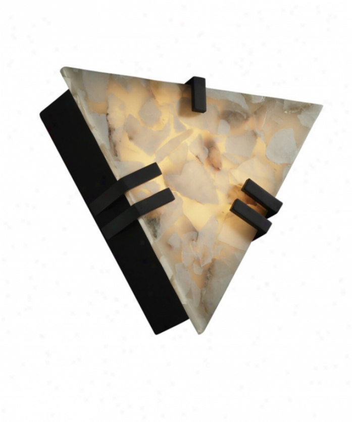 Justice Design Group Alr-5552-nckl Alabaster Rocks Energy Smart 1 Light Wall Sconce In Brushed Nickel With Alabaster Rocks Glass