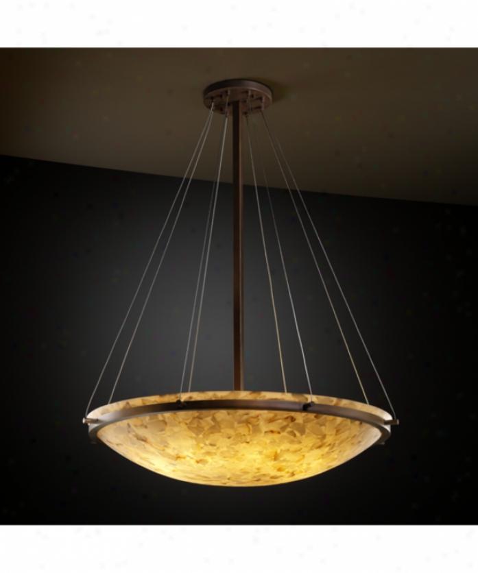 Justice Design Group Alr-9697-35-dbrz Ring Alabaster Rocks 8 Light Ceiling Pendant In Dark Bronze With Alabaster Rocks Glass