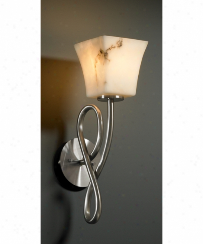 Jhstice Design Group Fal-8911-40-mblk Capellini Lumenaria 1 Light Wall Sconce In Matte Black With Faux Alabaster Glass