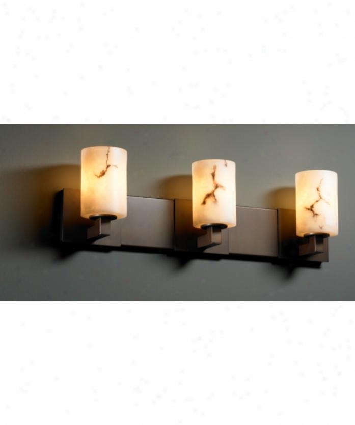 Justice Design Group Fal-8923-10-blkn Modular Lumenaria 3 Light Bath Vanity Light In Black Nickel With Faux Alabaster Glass