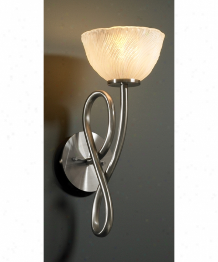 Justice Design Group Gla-8911-36-whtw-dbrz Capellini Veneto Lucce 1 Light Wall Sconce In Dark Bronze With White Wash Glass