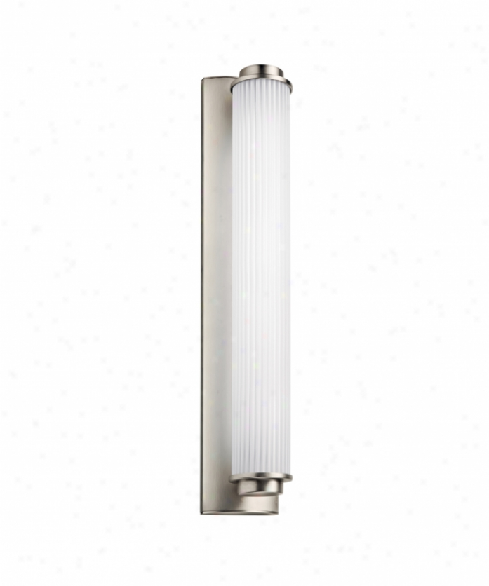 Kichler 11109sn Alllegre Force Smart 1 Libgt Bath Vanity Light In Satin Nickel With Etched Ribbed Acrylic Diffuser Glass