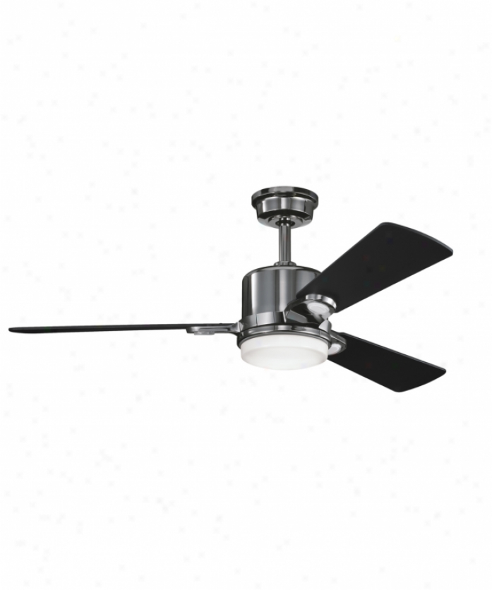 Kichler 300017mch Celino 2 Light 3 Blade Ceiling Fan In Midnight Chrome