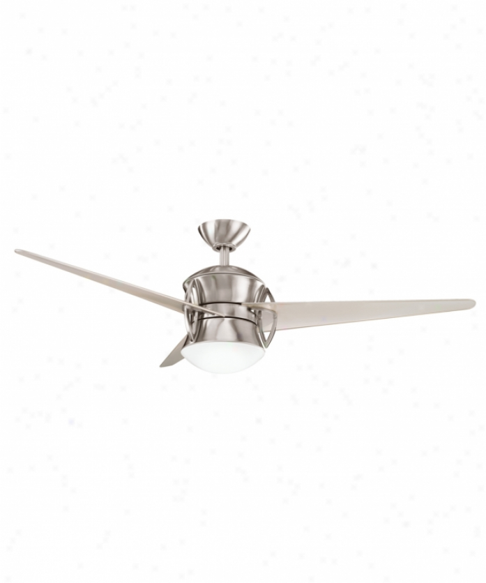Kichler 300125bss Tone 1 Light 3 Blade Ceiling Fan In Brushed Stainless Steel