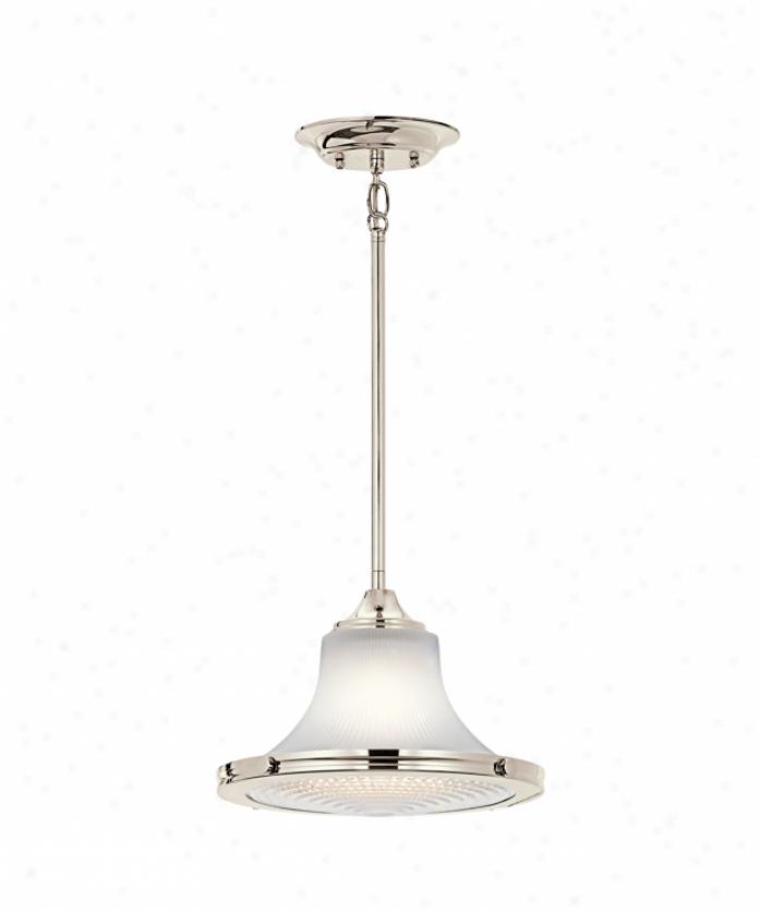 Kichler 42322pn Searcy Street 1 Light Ceiling Pendant In Refined Nidkel With Clear Bottom / Satin Etched Excel Glass
