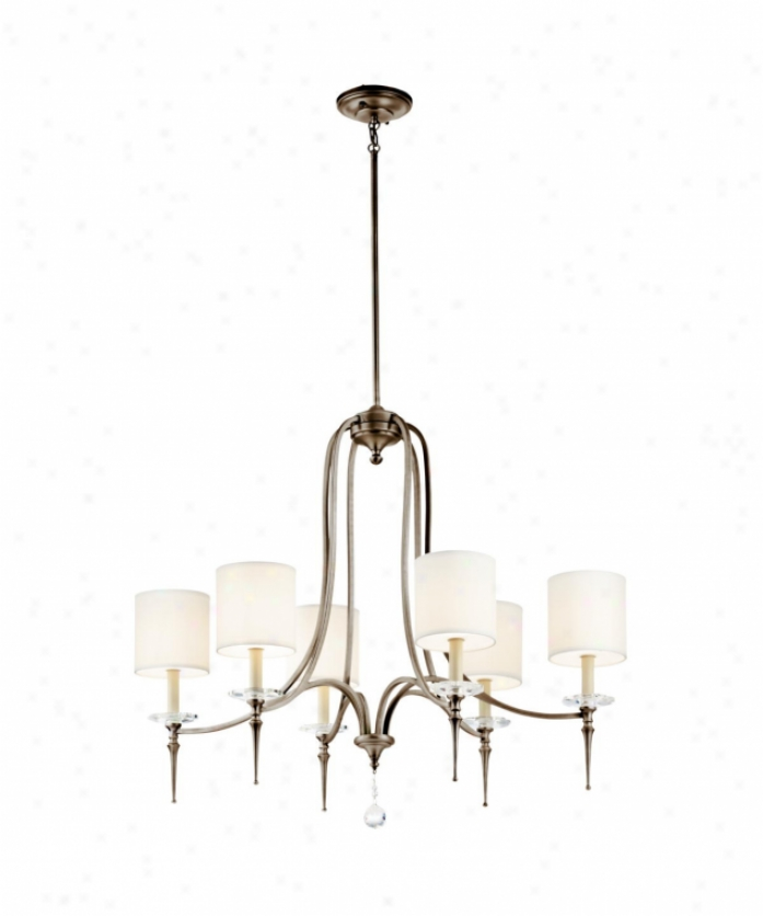 Kichler 42872ap Townsend 6 Light Single Tier Chandelier Ij Antique Pewter With Cut And Polished Crystal Accens Crystal