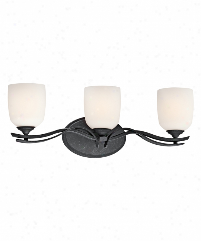 Kichler 45184dbk Breton Mills 3 Light Bath Vanity Light In Distressed Black With Satin Etched Cased Opal Glass