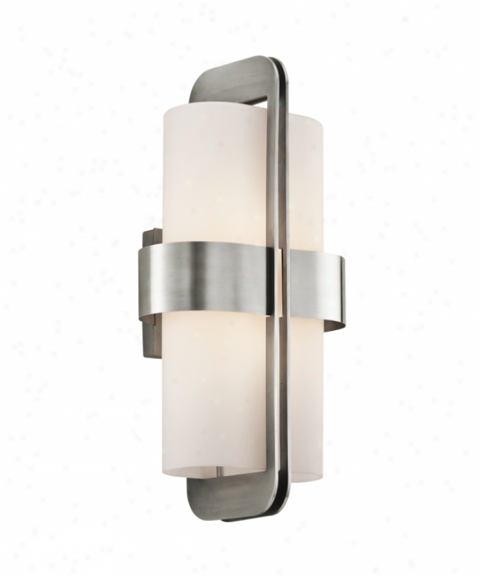 Kichler 49327ss Asher 2 Light Outdoor Wall Light In Stainless Steel In the opinion of Satin-etched Cased Opal Glass
