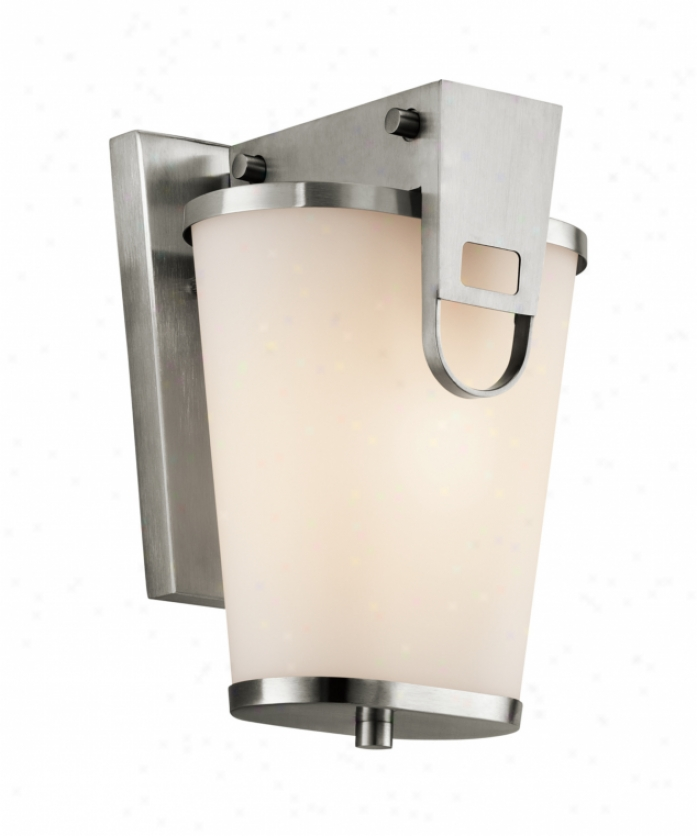 Kichler 49350ss Coturri 1 Light Outdoor Wall Light In Stainless Steel With Satin-etched Cased Opal Glass