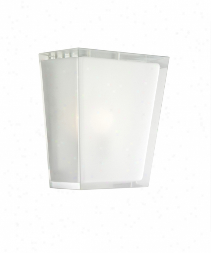 Kichler 6059ap Urban Ice 1 Light Wall Sconce In Antique Pewter With Clear Polished Outside-satin Etched Inaide Glass
