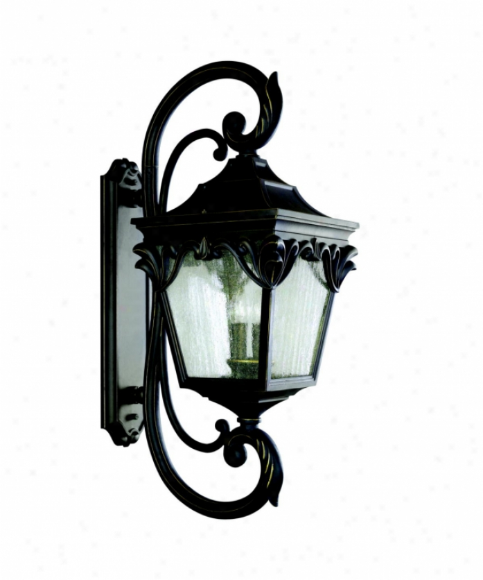 Kichler 9191rz Henshaw 4 Gay Outdoor Wall Loose In Rubbed Bronze With Clear Seedy Glass Glass